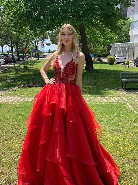 Organza Prom Dresses Formal Dresses Wedding Party Dresses LPD389 - LaRovias