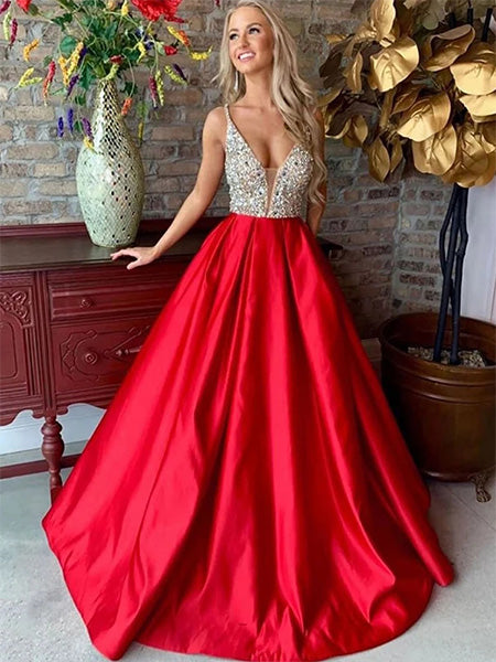 Satin Formal Dresses Prom Dresses Wedding Party Dresses LPD390 - LaRovias