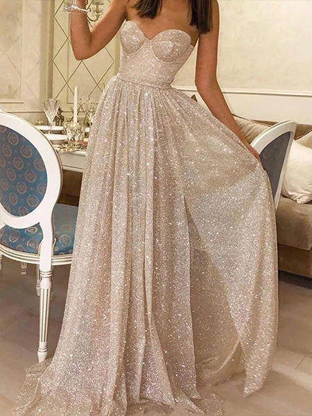 Shiny Formal Dresses Prom Dresses Wedding Party Dresses LPD396 - LaRovias