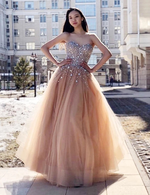 Sweetheart Neckline Prom Dresses Wedding Party Dresses LPD404 - LaRovias