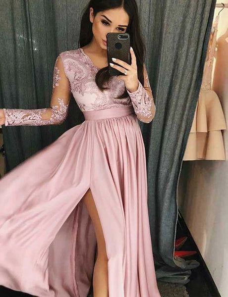 Prom Dresses Formal Dresses Wedding Party Dresses with Long Sleeves LPD413 - LaRovias