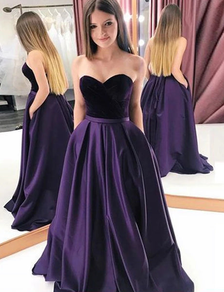 Satin Prom Dresses Formal Dresses Wedding Party Dresses LPD417 - LaRovias