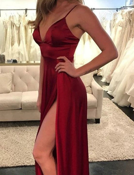 Sexy Prom Dresses Formal Dresses Wedding Party Dresses with Slit LPD425 - LaRovias