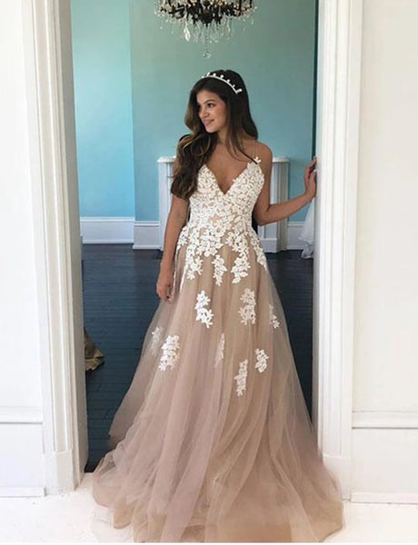 Tulle and Lace Prom Dresses Formal Dresses Wedding Party Dresses LPD427 - LaRovias
