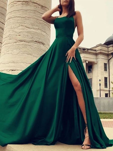 Formal Dresses Prom Dresses Wedding Party Dresses with Slit LPD438 - LaRovias