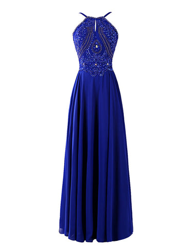 Beaded Chiffon Prom Dresses Formal Dresses Wedding Party Dresses LPD439 - LaRovias