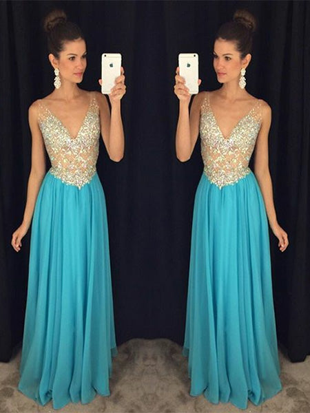 Chiffon Prom Dresses Formal Dresses Wedding Party Dresses LPD451 - LaRovias
