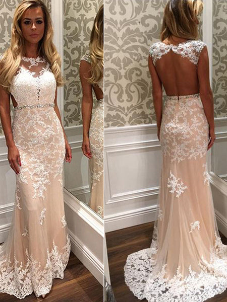 Mermaid Lace Prom Dresses Formal Dresses Wedding Party Dresses LPD455 - LaRovias