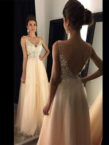 A Line Formal Dresses Prom Dresses Wedding Party Dresses LPD460 - LaRovias