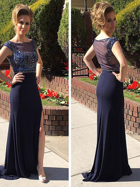 Navy Blue Formal Dresses Prom Dresses Wedding Party Dresses LPD464 - LaRovias