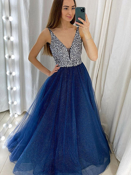 Beaded Tulle Formal Dresses Prom Dresses Wedding Party Dresses LPD940 - LaRovias