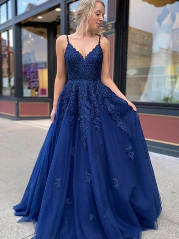 Tulle and Lace Prom Dresses Wedding Party Dresses Corset Back LPD943 - LaRovias