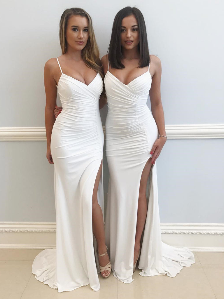 Prom Dresses Formal Dresses Wedding Party Dresses with Spaghetti Straps LPD112 - LaRovias