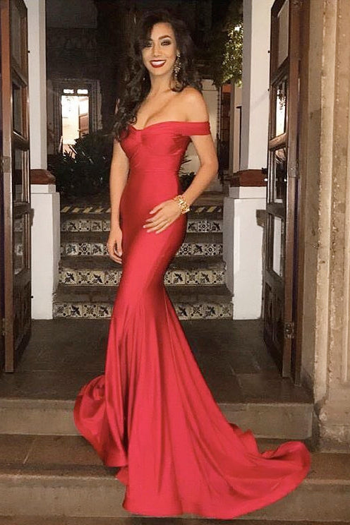 Off the Shoulder Sexy Prom Dresses Formal Dresses Wedding Party Dresses LPD118 - LaRovias