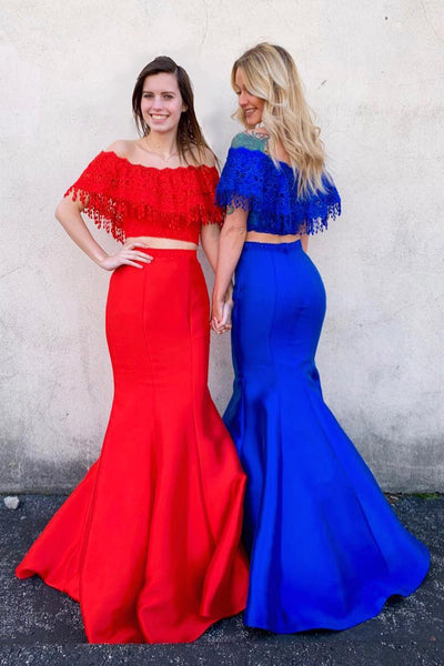Two Pieces Prom Dresses Wedding Party Dresses Evening Dresses LPD127 - LaRovias