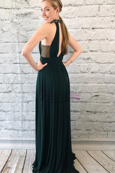 Halter Chiffon Prom Dresses Wedding Party Dresses Evening Dresses LPD140 - LaRovias