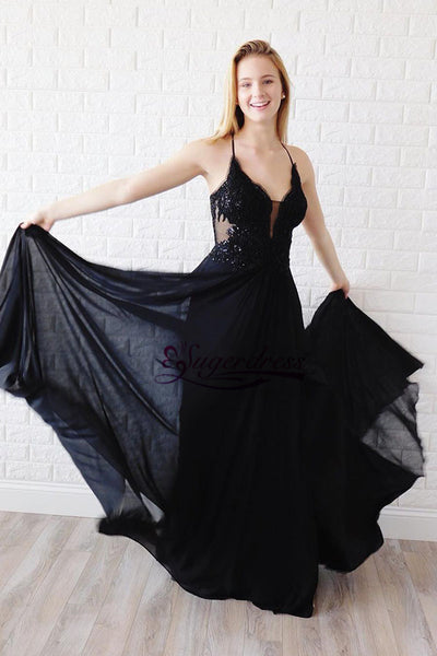 Halter Chiffon Prom Dresses Wedding Party Dresses Evening Dresses LPD142 - LaRovias