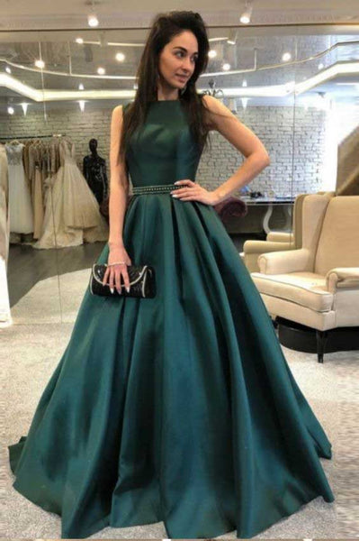 Satin Prom Dresses Formal Dresses Wedding Party Dresses LPD172 - LaRovias
