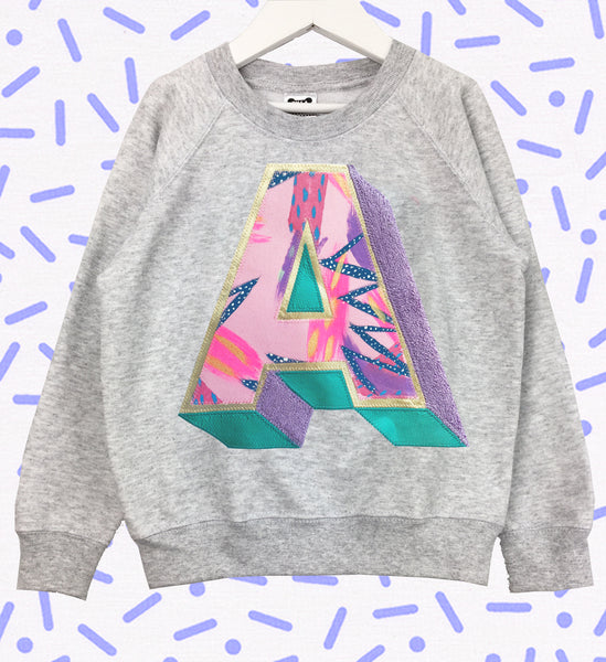 3D Letter Sweater - Emotional Waterfall x Zilla - pink