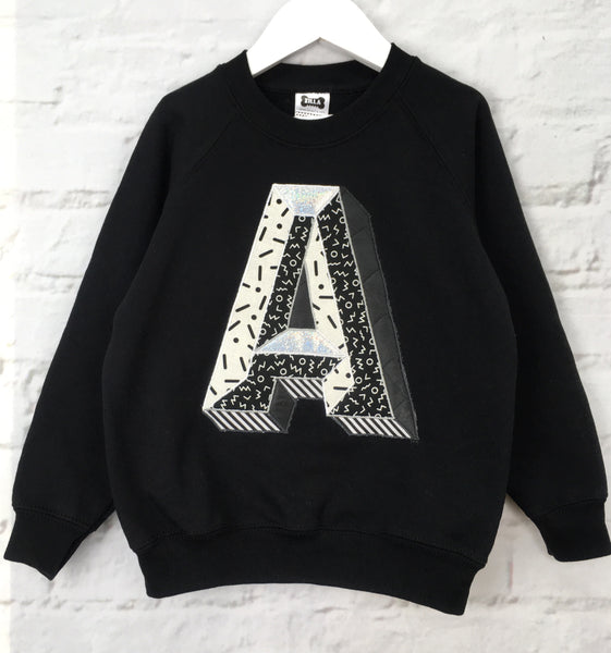 Adults 3D Letter Sweater - mono