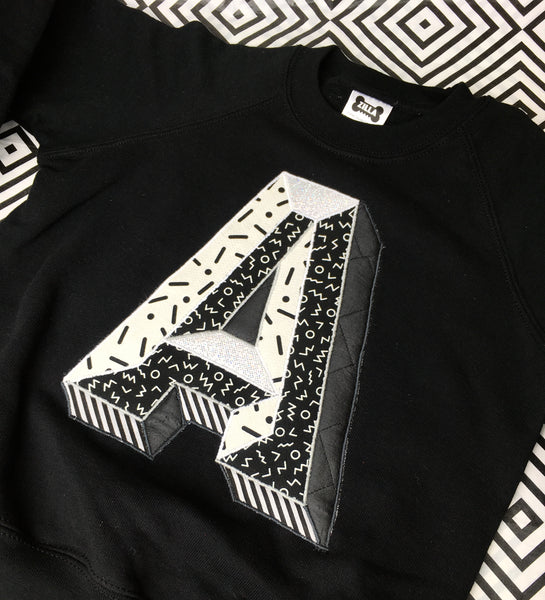 Kids 3D Letter Sweater - mono