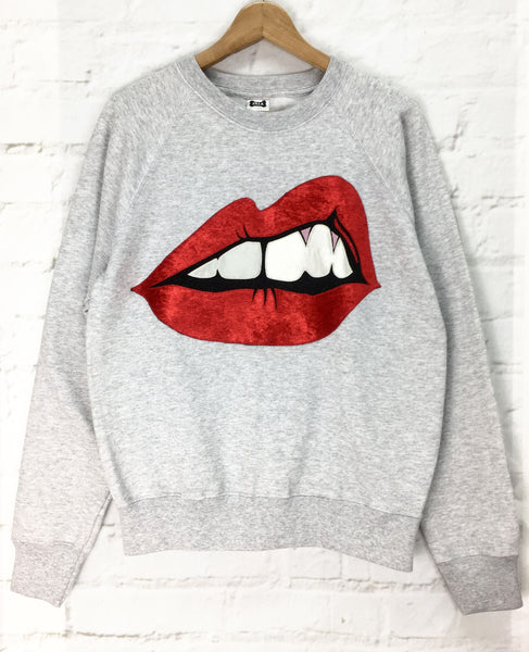"Sale - Bite Back Sweatshirt Small and XXL -Black and ""Classic"" (Red)"
