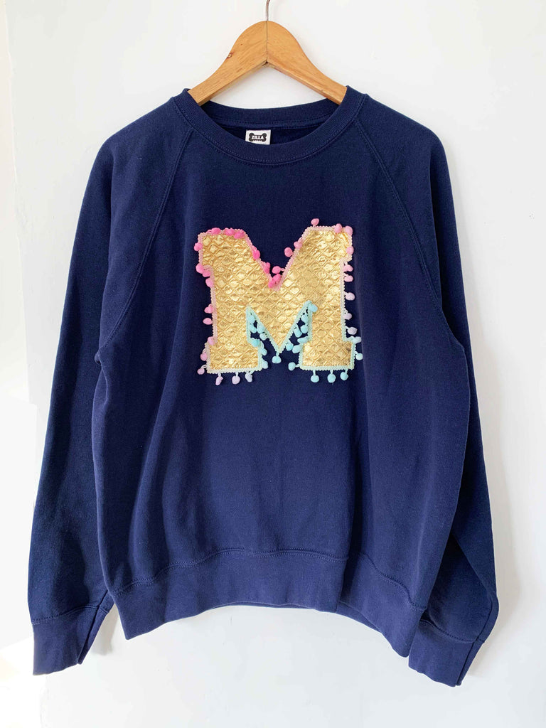 Size M 'M' Letter Sweater