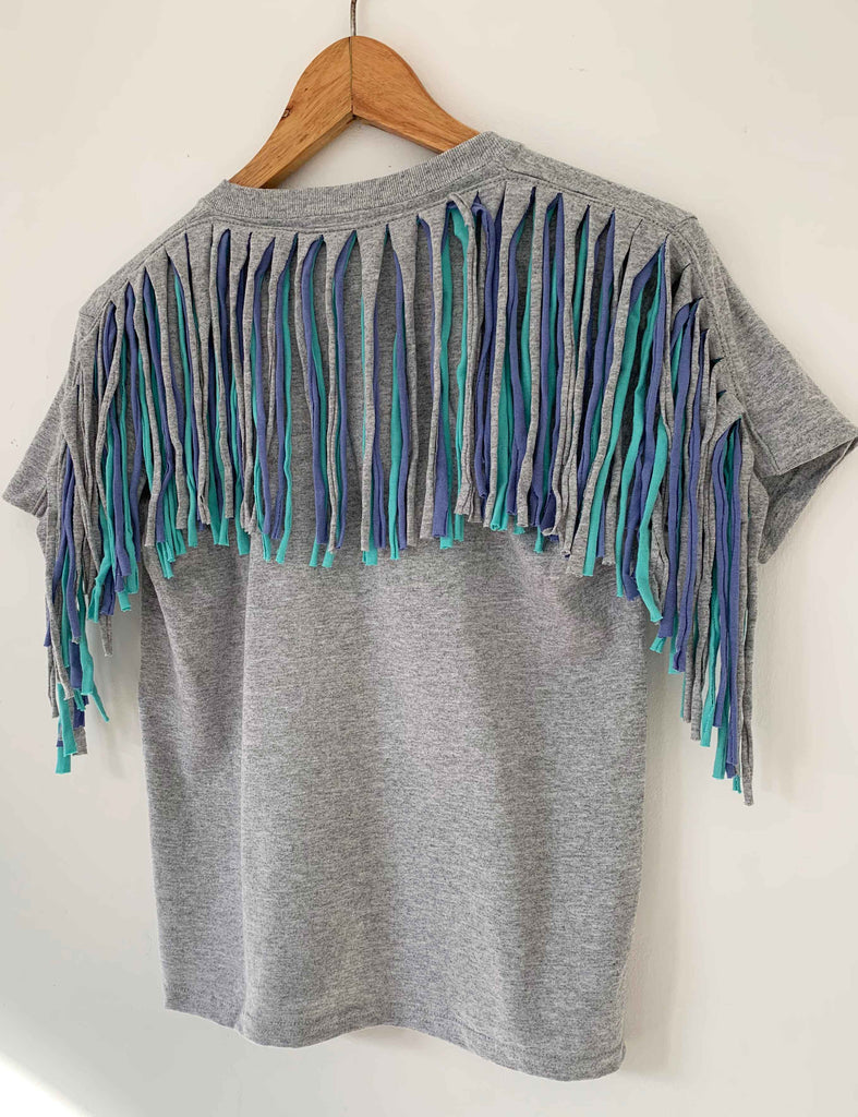 Kids Fringed Tees Age 7/8 and 5/6
