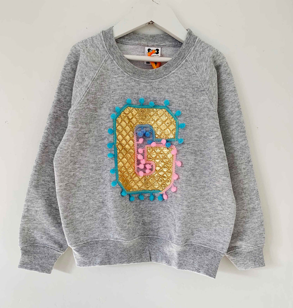 Kids 5/6 'G' Letter Sweater