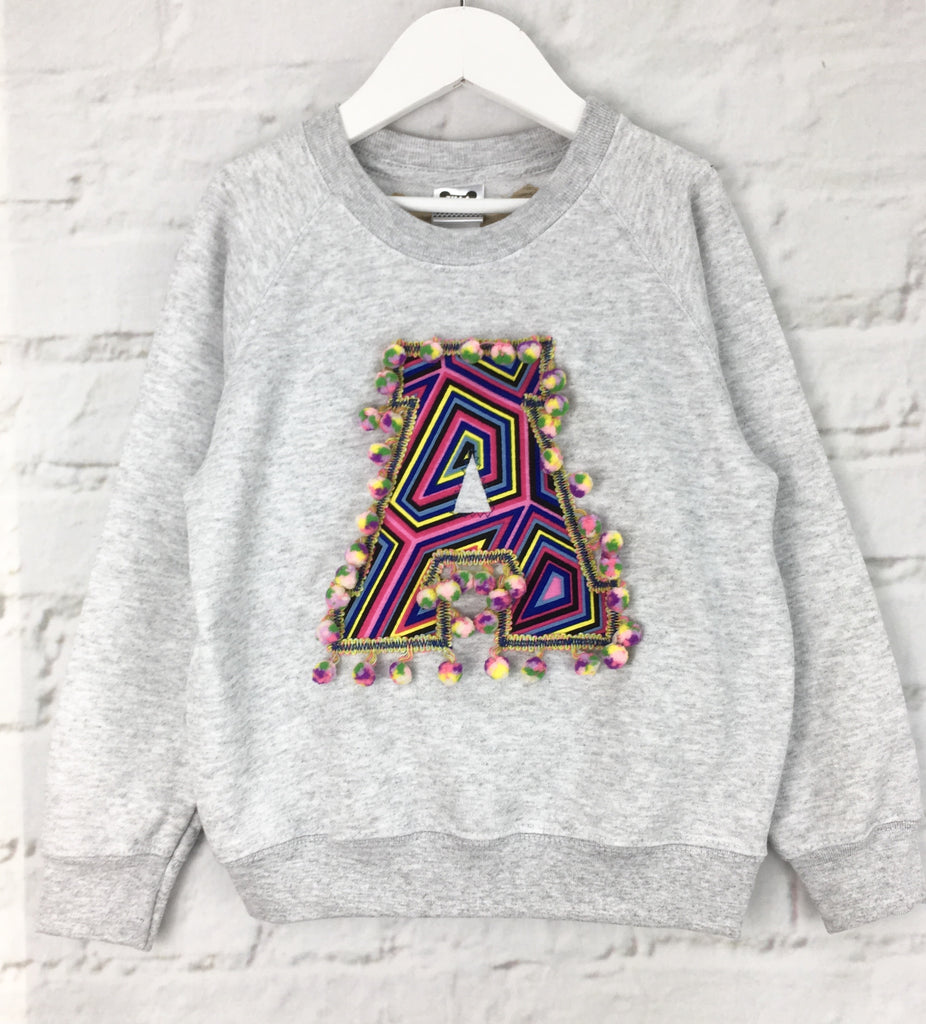 5/6 'A' Letter Sweater