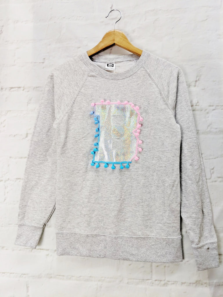 SALE XS UK8 'B' Letter Sweater