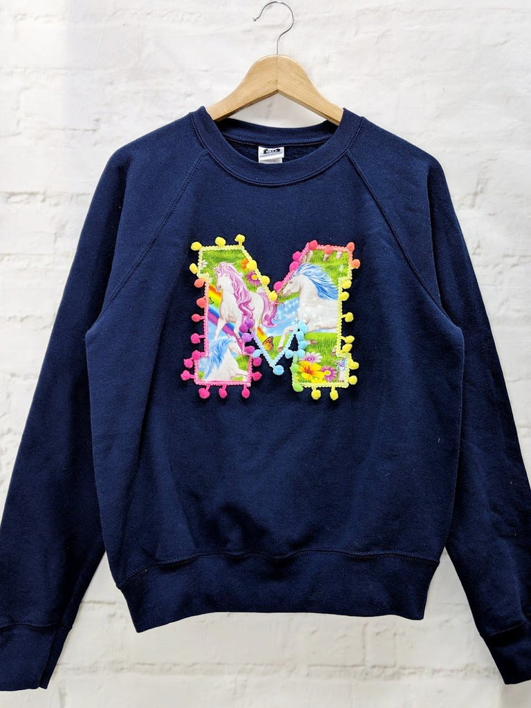 SALE Adults Size S 'M' Letter Sweater