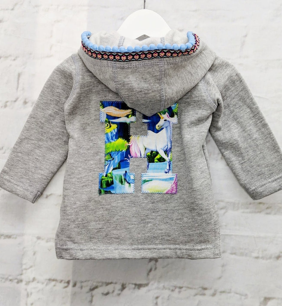 SALE Baby Size 6-12 'H' Organic Letter Hoodie