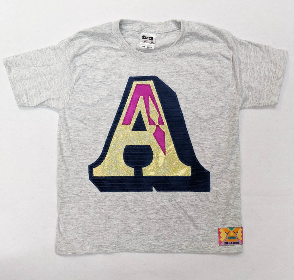 Sale - Age 5/6 Letter T shirt - One Off