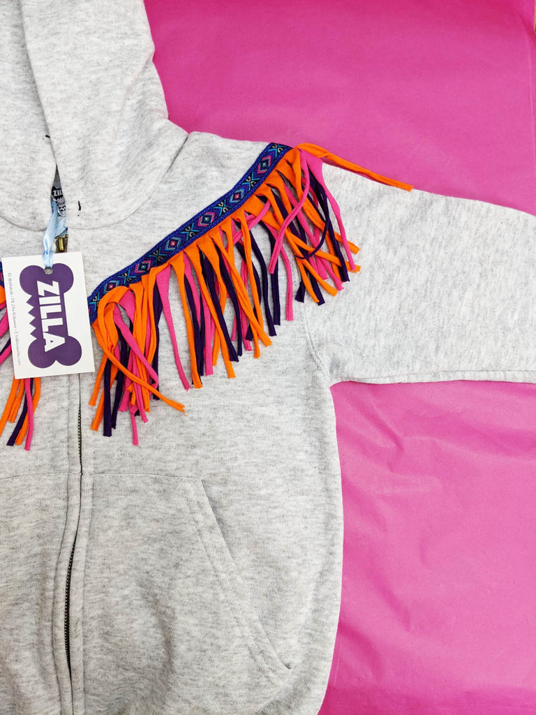 Sale - Age 5/6 Fringed Hoody - One Off