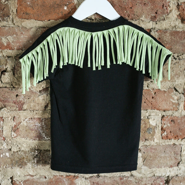 Black Rock Tee - Black / Lime