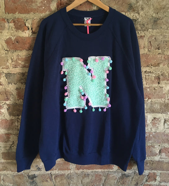 Adults XXL Unisex 'N' Letter Sweater