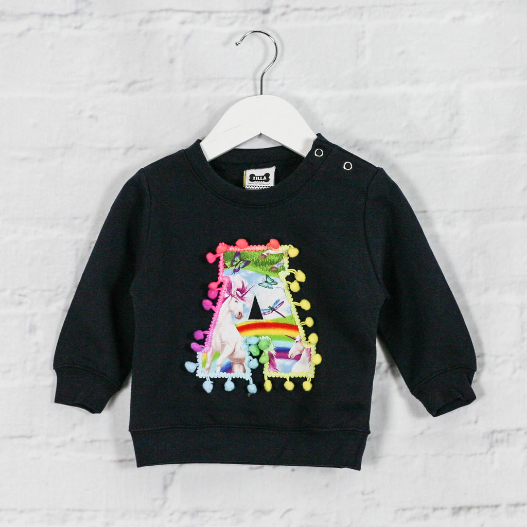 6-12 months 'A' Letter Sweater - sale