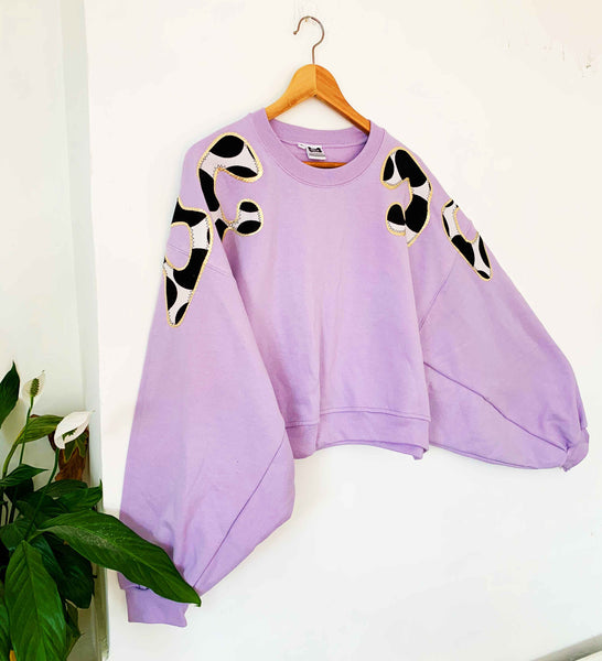 Sale - Lilac Bonnie - One Off! Size M Batwing