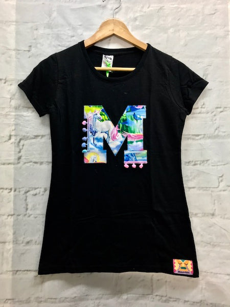 Ladies Fitted Size 8 'M' T Shirt