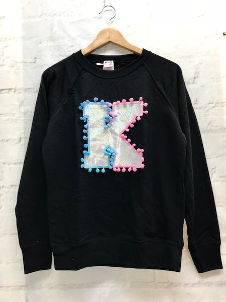 Ladies 10 Fitted 'K' Letter Sweater