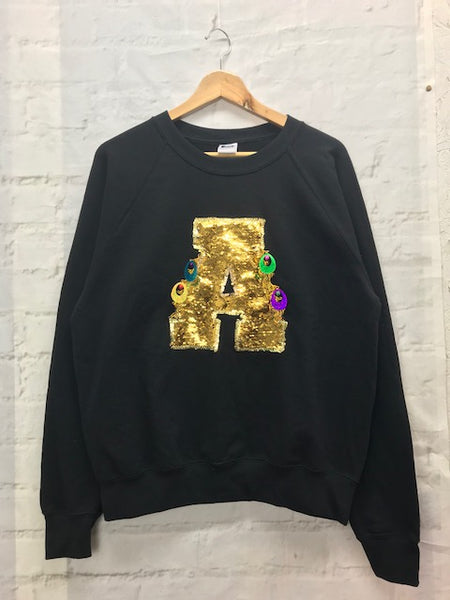 Adults Medium Unisex 'A' Letter Sweater