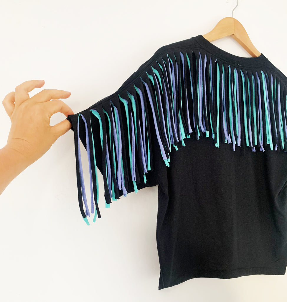 Oversized Fringed Tee in Choice of Colours