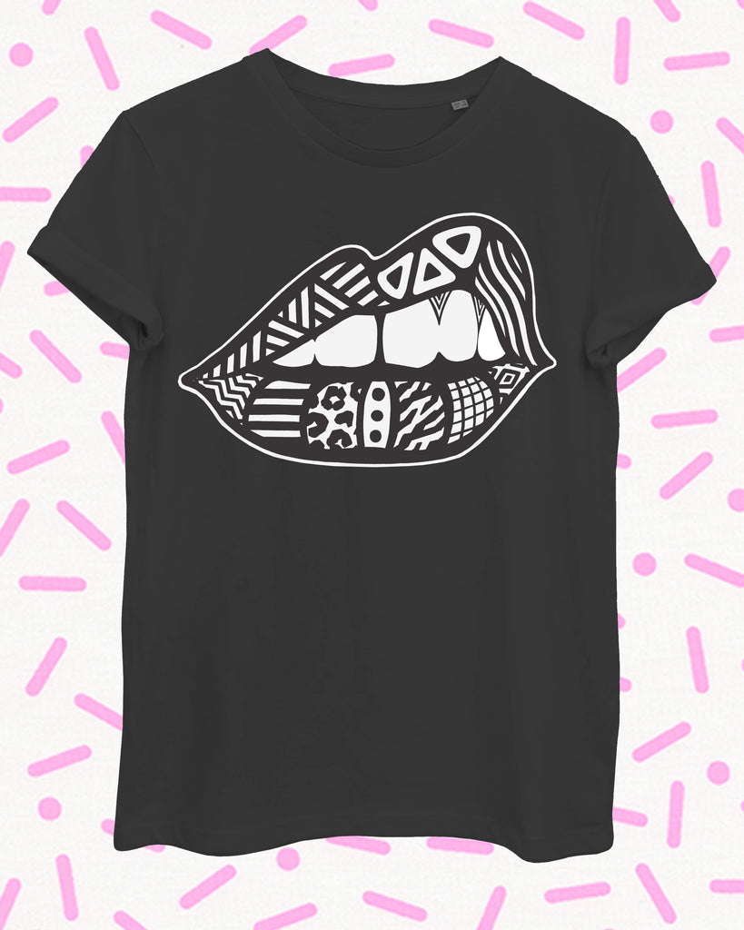 Bite Back Tee - Victoria Devey x Zilla - Women for Women International Fundraiser - Black