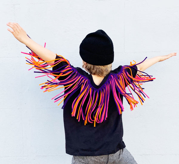 Fringed Tees - Kids - Various Colours