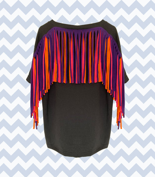 Fringed Tees - Adults Unisex Fit - Various Colours
