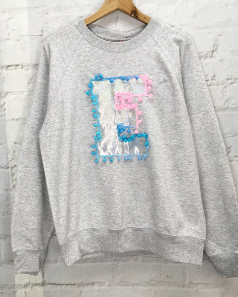 Adults Medium 'E' Letter Sweater
