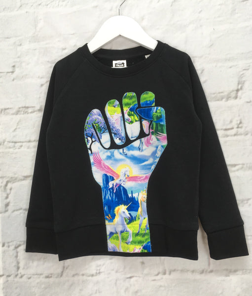5/6 Organic Cotton Appliquéd Solidarity Sweatshirt