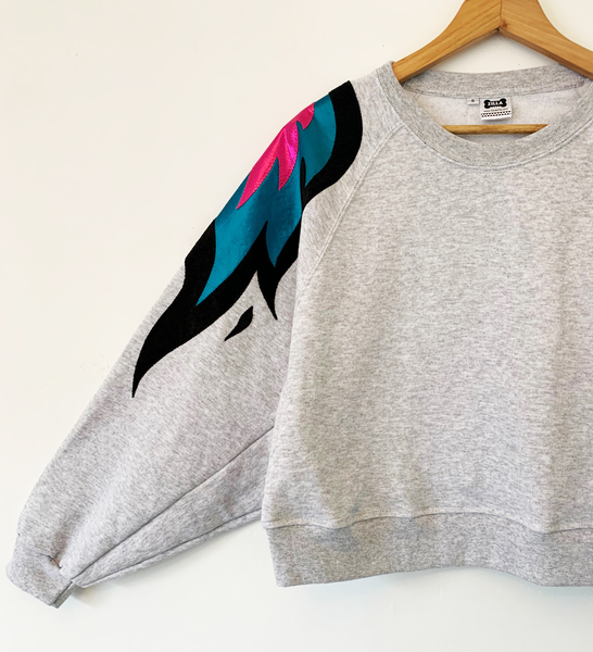 Sizes S and L Batwing Phoenix - Grey and Blue