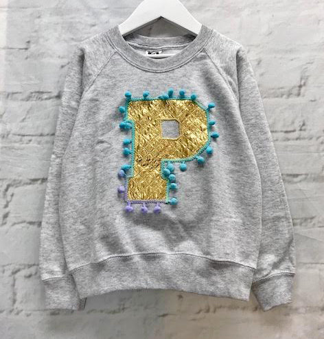 5/6 'P' Letter Sweater